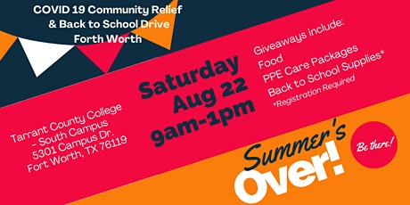 CHF Community Relief Drive & Back to School Event - Ft. Worth tickets