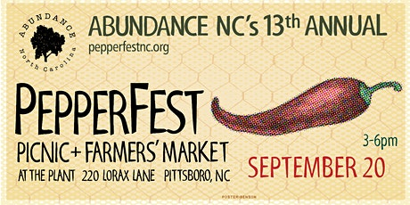 13th Annual Pittsboro PepperFest! 2 Adults included per Ticket! tickets