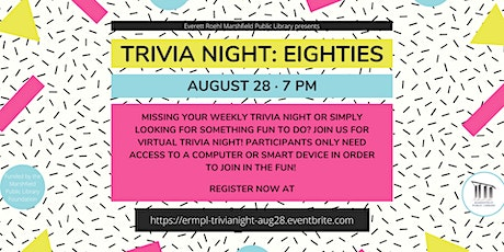 Virtual Trivia Night: 80s tickets