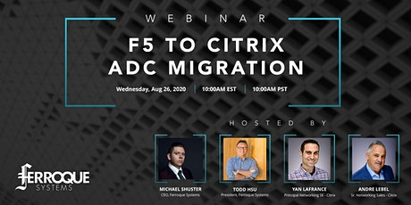 Webinar: F5 to Citrix ADC Migration tickets