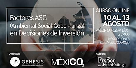 Factores ASG (Ambiental-Social-Gobernanza)  en Decisiones de Inversión entradas