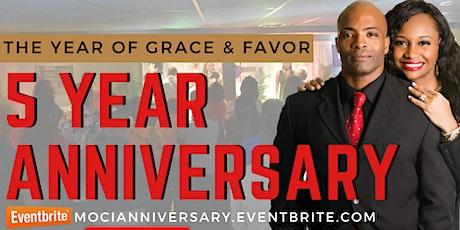 MOCI  5  Year Church Anniversary tickets
