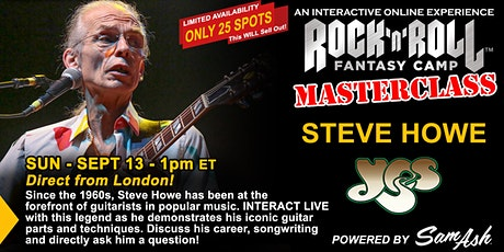 Masterclass with Steve Howe of YES! tickets