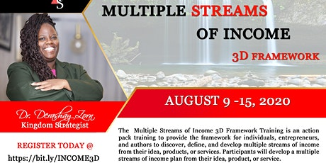 Multiple Streams of Income 3D Framework Training tickets