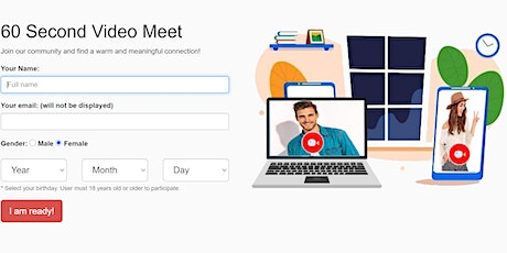 Meet New People Today Online for 60 Second Meetings tickets