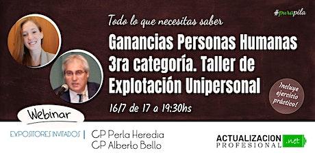 GRABACION - Ganancias Personas Humanas 3ra cat y Ajuste por Inflación Imp entradas
