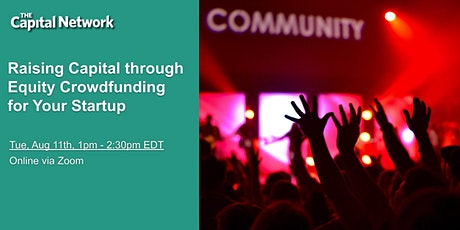 WEBINAR | Raising Capital through Equity Crowdfunding for Your Startup tickets