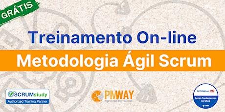 Treinamento on-line gratuito com certificado sobre a metodologia ágil SCRUM bilhetes