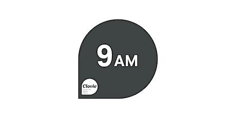 Clovie August 9  9am tickets