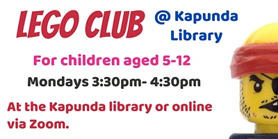 South Australia: Online Lego Club – Mondays 3:30pm – 4:30pm
