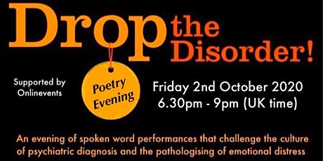 Drop the Disorder poetry evening tickets
