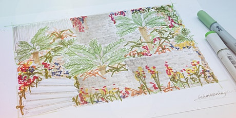 Sketching Tropical Gardens with Markers tickets