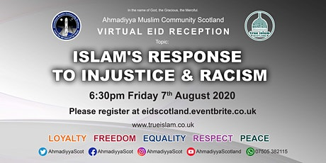 ISLAM'S RESPONSE TO INJUSTICE & RACISM tickets