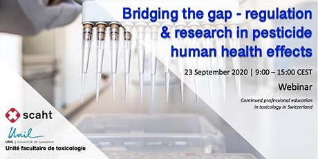 Bridging the gap - regulation & research in pesticide human health effects tickets