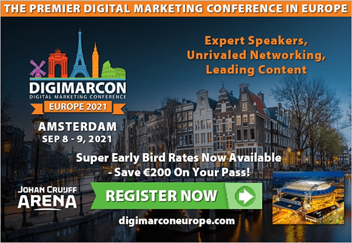 DigiMarCon Europe 2022 - Digital Marketing, Media & Advertising Conference image