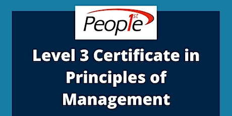 Level 3 Principles of Management tickets