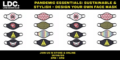 Pandemic Essentials: Sustainable & Stylish - Design Your Own Face Mask tickets