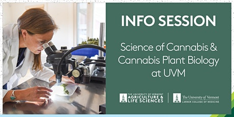 Science of Cannabis & Cannabis Plant Biology at UVM Info Session entradas