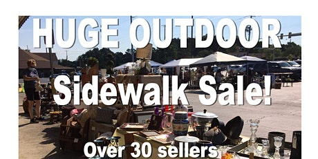 HUGE OUTDOOR Sidewalk Sale! Antiques, furniture, decor and more! tickets