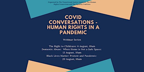 COVID CONVERSATIONS: Black Lives Matter: Protest and Pandemic tickets