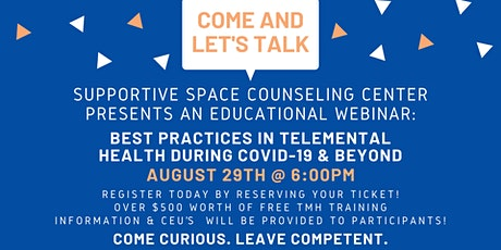 Best Practices in TeleMental Health Counseling During COVID-19 & Beyond tickets