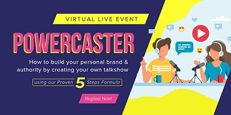 How to build your personal brand & authority by creating your own talkshow tickets