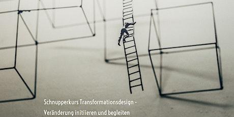 Schnupperkurs Transformationsdesign - Veränderung initiieren und begleiten Tickets