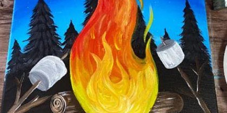 Camp Fire S'more Canvas Paint party tickets