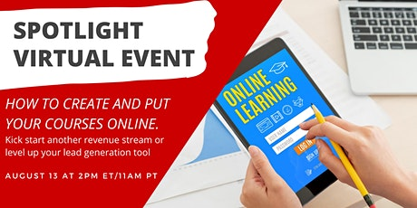 How to Create and put your Courses Online. tickets