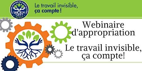 Conférence - Le Travail invisible, ça compte! - Webinaire d'appropriation billets
