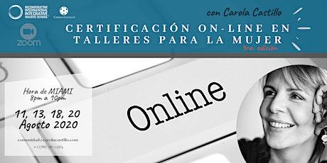 Curso para facilitar talleres on-line para la mujer entradas