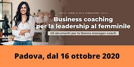 Corso di business coaching per la leadership al femminile biglietti