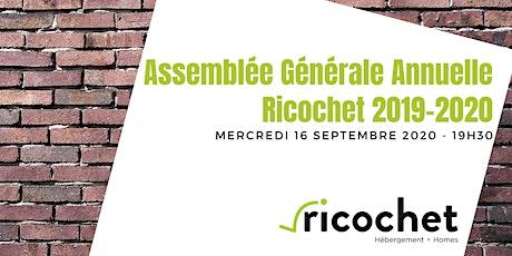 Assemblée Générale Annuelle Ricochet 2019-2020 tickets