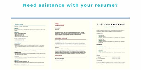 In-Depth Resume Writing Workshop    Dixon Hall   August 25th tickets