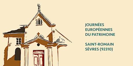 Journées européennes du Patrimoine : Saint-Romain de Sèvres billets