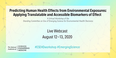 Predicting Human Health Effects from Environmental Exposures tickets