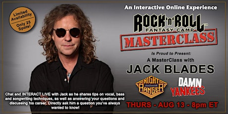 Masterclass with Jack Blades of Night Ranger! tickets