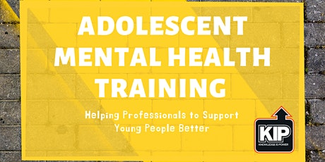 Webinar: Adolescent Mental Health Training tickets