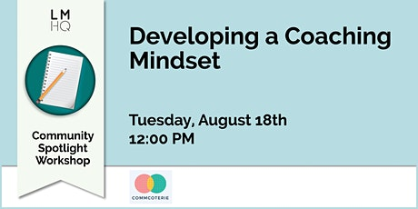 Developing a Coaching Mindset tickets