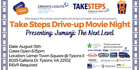 Drive-up Movie Night Presented By Crohn's & Colitis DC & Virginia Chapter tickets