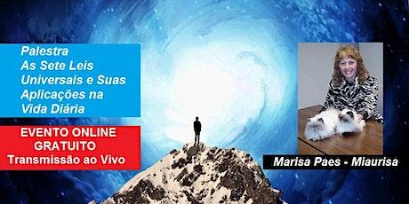 Palestra Online Gratuita As Sete Leis Universais e Suas Aplicações na Vida ingressos