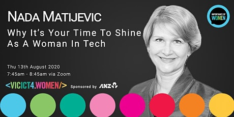 Importance of Women Webinar-Why it's your time to shine as a woman in tech tickets