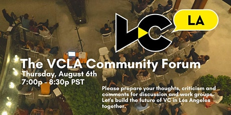 VCLA Community Forum tickets