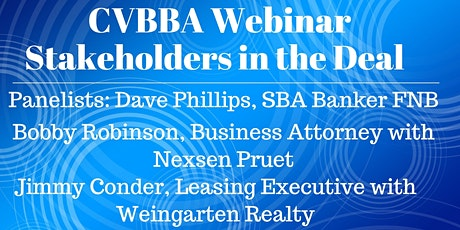 Webinar: Stakeholders in the Deal tickets