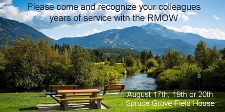 2020 Years of Service Employee Recognition Event-August 17th,19th or 20th tickets