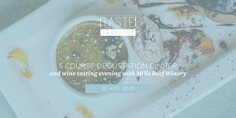 5 Course Degustation Dinner & Wine Tasting - Taste Tauranga 2020 tickets