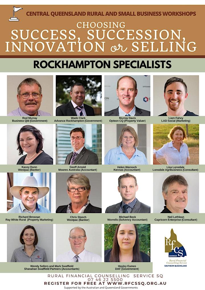 ROCKHAMPTON Success, Succession, Innovation or Selling image