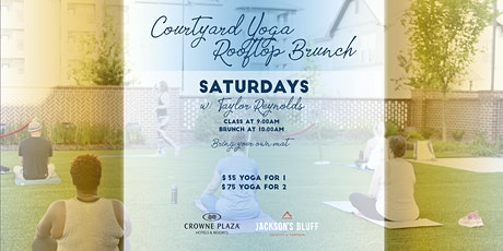 Saturday Courtyard Yoga & Rooftop Brunch tickets