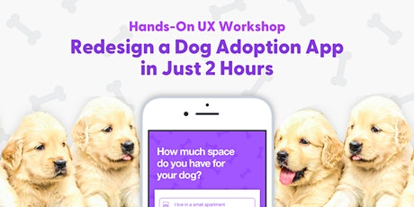 Hands-On UX Workshop: Redesign a Dog Adoption App in Just 2 Hours tickets