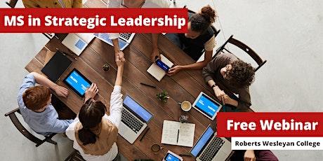 Masters in Strategic Leadership Webinar tickets